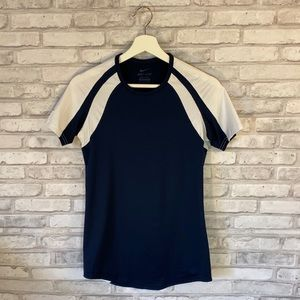Nike Dri-Fit Navy Blue & White Athletic Top Sz S